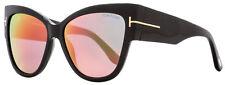 Tom Ford Cateye Sunglasses TF371 01Z 57MM Anoushka  Shiny Black FT0371