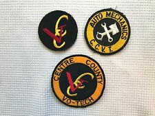 Set of Vintage Yellow Black Red Centre County Vo-Tech CCV Patch Badge