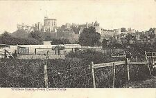 POSTCARD WINDSOR CASTLE FROM CLEWER FIELDS