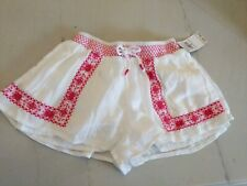 POLO RALPH LAUREN GIRLS NEW white embroidered SHORTS SIZE: 5