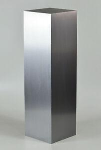 Art Display Pedestal, Wilsonart AlumSteel Finish.
