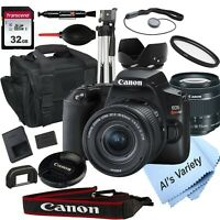 Canon EOS Rebel SL3 W/ EF-S 18-55mm f/4-5.6 IS STM Lens -18PC Bundle