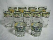 Set of 11 Mikasa Garden Harvest Glasses,5 Highball, 2 Old Fashioned, 4 Goblets