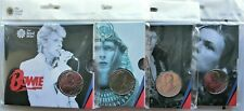 David Bowie 2020 £5 Brilliant Uncirculated Coin -  Edition 1,2,3 &4 SET of 4