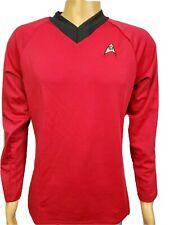 Star Trek Operations Engineering Logo Scotty Uhura Red V Neck Uniform Shirt Sz M