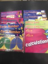 10 Books Educational Learning ladder Pre-reading &numbers Spelling Calculations