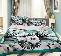 3D Flower Leaves 688 Bed Pillowcases Quilt Duvet Cover Set Single Queen AU Carly