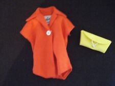 Vintage Barbie Pak RED Plain Blouse 1962 Mix & Match Yellow Clutch Purse Excel