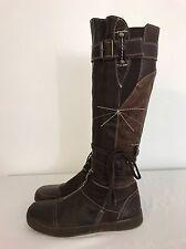 EUC Rare Pataugas Mayalen Moka Leather Fashion Boots US 8.5 EUR 39 Sold Out
