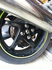 Honda VFR750 91 92 93 Rear wheel Chrome centre cap X4 nut covers + swing arm cap