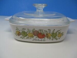 """Vintage Corning Ware """"Spice of Life""""  A1B  1 Qt. with Lid"""