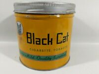 Vintage Black Cat Cigarette Tobacco Tin Extra Mild Quality Superfine Carreras