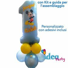 COMPOSIZIONE MYLAR NUMERO 1 personalizzato100 cm PALLONCINI, Addobbi Compleanno