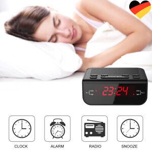 Digitales Dual LED Funkuhrenradio Radio Wecker FM Radiowecker Sleep Timer DE