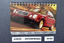 1999 Mercedes C208 CLK 320 430 CLK320 CLK430 Owners Quick Reference Guide M199 M