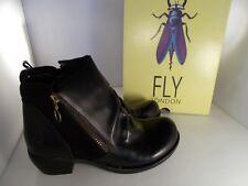 a572fa0fd8ce Womens Fly London Meli Oiled Suede Black Leather Ankle BOOTS Shu Size UK 6    EU