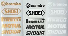 Brembo Shoei Motul Motorsport Sponsoren Carbon Aufkleber Gold Racing Set
