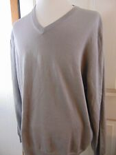 NEW WITH TAGS BROOKS BROTHERS SUPIMA COTTON COLLECTION V NECK GRAY SWEATER XXL