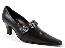 Kind Women's Classic Pumps Dark Brown Pointy Toe Korean Size 225, Us Size 5.5