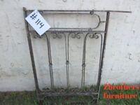 Antique Victorian Iron Gate Window Garden Fence Architectural Salvage Door #114