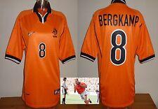 HOLLAND OLANDA 1998 Calcio Casa Maglietta 8 BERGKAMP Adulti Arsenal FOOTBALL CLUB AJAX