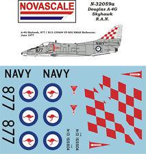 RAN A-4G Skyhawk Mini-Set Decals 1/32 Scale N32059a