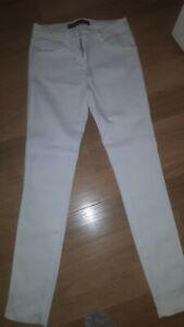 Ladies size 12 L NEXT  jeans leggings Skinny white soft stretch