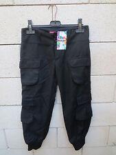 Pantalon Treillis noir DESIGUAL rainbow Larralde taille 26 *NEUF*
