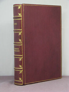 1st, She by H Rider Haggard, 1st state of 1st HB edition from 1887, full leather