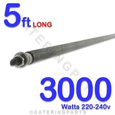 """HE6030 60"""" / 5ft LONG 3000 watt 3kw DRY / WET ROD HEATING ELEMENT 220v-240v 8mm"""