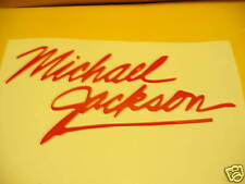 "8"" MICHAEL JACKSON MJ  VINYL DECAL WHITE SIGNATURE"