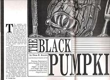"DEAN KOONTZ ""THE BLACK PUMPKIN"" TRUE 1ST TWILIGHT ZONE 12/86"