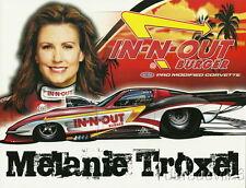 2010 Melanie Troxel In-N-Out '63 Chevy Corvette Pro Mod NHRA postcard