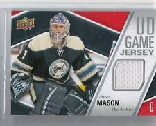 11-12 2011-12 UPPER DECK STEVE MASON SERIES 1 UD GAME JERSEY GJ-SM BLUE JACKETS