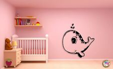 Wall Sticker Cute Baby Whale  Animals Modern Decor for Nursery Room z1438