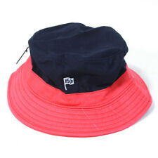 HERSCHEL Men's Red Blue Color Block Bucket Hat One Size NWT