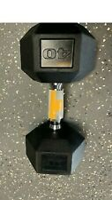 (1) 40lb Cap Rubber Dumbbell.new.fast Shipping.