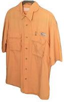 World Wide Sportsman Men's Size Large Vented Lightweight Shirt Orange