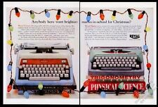 1961 Royal Futura and Signet typewriter color photo Christmas lights photo ad