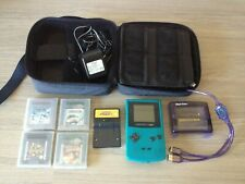 Teal Nintendo GameBoy Color + Pokemon Pinball +Mad Catz carry-case +viewer +twin