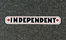 Independent Truck Company Bar Logo Skateboard Sticker White 4in si
