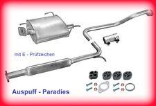 Abgasanlage Schalldämpfer Auspuff Nissan Almera I SCHRÄGHECK 1.4 & 1.6 (N15)+Kit