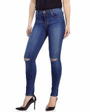 NEW J Brand MID Midrise Distressed Skinny Leg Jean BLUE CODE w/ Stretch Jean 30