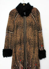 Chanel 09 New £7.2K Paris-Moscow Gold Fur Coat Jacket Cardigan FR46 44 42 Large