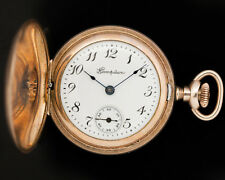 Antique 1918 Hampden 3/0s Molly Stark 7j Women's Pocket Watch for Restoration