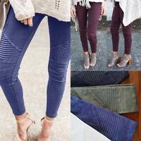 New Women Lady Denim Skinny Pants High Waist Stretch Jeans Slim Pencil Trousers