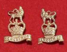 British Army. 15th/19th Hussars Genuine Officer's Collar Badges