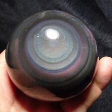 30mm Natürlichen Rainbow Regenbogen Obsidian Quarz Kristall Kugel+Ständer