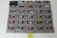 30 Super Nintendo SNES Games Street Fighter Alpha, Pac-Man, Punch Ou, Mairo Kart