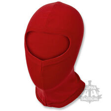 ULTRA LIGHTWEIGHT THERMAL BALACLAVA RED OPEN FACE BIKE CYCLE LAYER